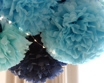 10 mixed sizes Tissue paper  PomPoms - 3 sizes - pick your colors - wedding party decorations / Bridal Baby Shower  / 1st Birthday