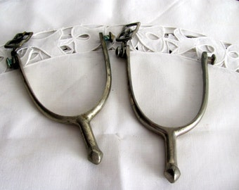 Pair of WWI US Calvary Spurs / Antique Military Collectible Spurs from 1910's