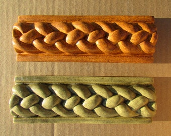 Ceramic Braid Border Tile -- 2x6 Handmade Braid Border, Kitchen backsplash, decorative tile. MADE TO ORDER