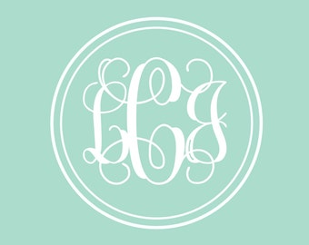Vine Monogram Decal | Monogram Decal for Wall | Monogram for Girls
