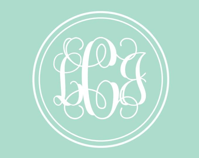 Vine Monogram Decal | Monogram Decal for Wall | Monogram for Girls