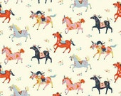 Birch Fabrics Organic  Wildland Poplins -  Wild Horses