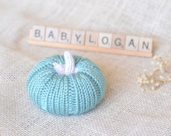 Knit Pumpkin, Nursery Decor, Baby Girl, Baby Boy, Maternity Photo Prop, Baby Shower Gift,