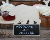 Woodland Animals Birthday Party Chalkboard Signs, Woodland Themed Party Decorations Woodland Baby Shower Woodland Animals Party Food Markers