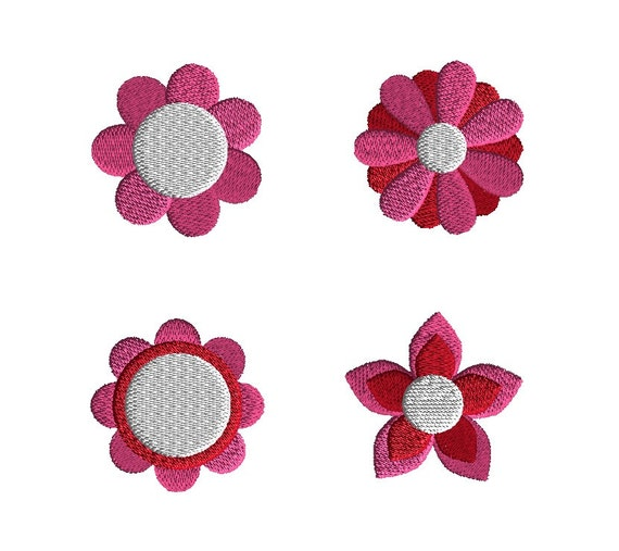 Mini flowers machine embroidery designs instant download