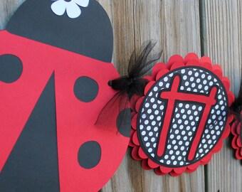 Ladybug Birthday Banner/ Happy Birthday Banner/ Ladybug Party/ Ladybug Banner