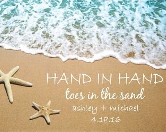 "Beach Wedding Stickers - 4"" x 3"" Wedding Welcome Bag/Box Labels - Beautiful Wedding Welcome Stickers"