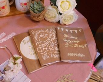 Handmade wedding book
