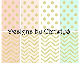 Glitz Gold Pillow Cover- Chevron, Dot, Blush, Confection, White, Mint