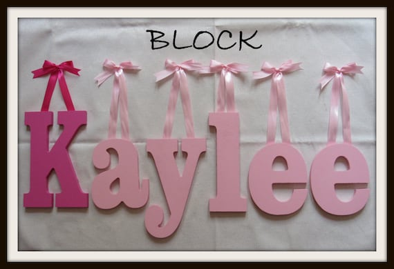 SALE : 8 Size Painted Wooden Wall Letters Block Plus