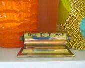 Vintage 1960s MID Century Gold Brass Park Sherman Perpetual Office Desk Calendar