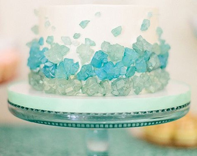 6 pounds of Bright and Light Aqua Sea Glass Ripple Sheets of Hard Candy