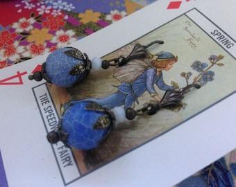Dragons Vein Agate Vintage Style Earrings