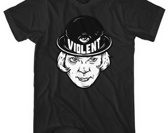 Violent T-shirt - Men and Unisex - XS S M L XL 2x 3x 4x - Illustration, Crazy, Violence Tee - 4 Colors