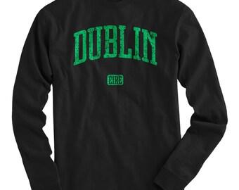 LS Dublin Tee - Long Sleeve Ireland T-shirt - Men and Kids - S M L XL 2x 3x 4x - Dublin Shirt, Irish, Eire - 4 Colors