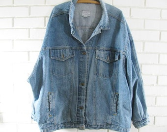 Reserved for Caveatetsywishlist 80's jean jacket woman's plus size 26/28