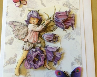 3D Flower Fairy card