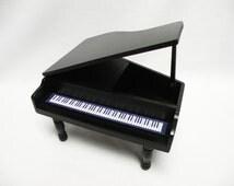 Toy Piano Music Box - Miniature Grand Piano - Barbie Furniture - Piano Home Decor