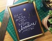 Flighty Temptress Harry Potter Quote, Albus Dumbledore, Adventure - Digital Print Home Decor