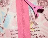 For MoniqueParis : Paris Map Zipper Pouch with Eiffel Tower - Several sizes avalaible