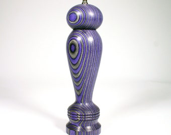 Pepper Mill, 10 Inch Purple and Black Haynes, Pepper Grinder, Peppermill, Spice Grinder, Purple and Black, Lavender and Black