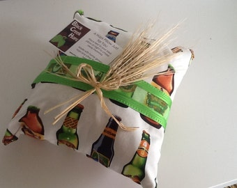 Beer Hops Pillow,  Beer themed Pillow with Hops, Father's Day Beer Gift, Hops Pillow, Beer Sachet, Hops Aromatherapy Pillow, Beer Pillow