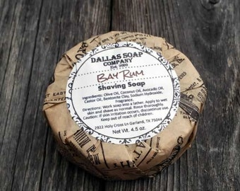 Bay Rum Old Fashioned Shaving Soap for Him