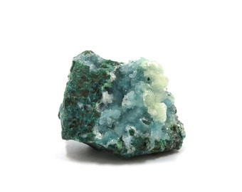 Chrysocolla Druzy Specimen 1 Raw Crystal 32mm x 27mm x 23mm Natural Rough Stone (Lot 9470) Mineral Specimen Calcite