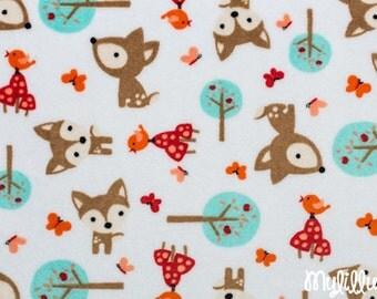 Minky fabric by the yard- Oh Deer cuddle snow- Shannon Fabrics one yard