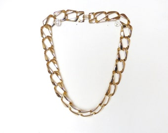 Vintage Gold Tone Choker Chain Links