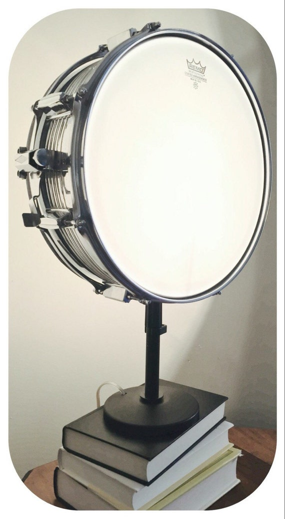 snare drum table lamp musical instrument light by litforaqueen. Black Bedroom Furniture Sets. Home Design Ideas