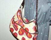 Vintage Brighton fabric bag  heart butterflies shoulder designer purse. Excellent condition