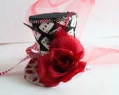 Through the looking glass - Mini Top Hat - Mad Hatter Hat - Alice in Wonderland Mini Top Hat Fascinator