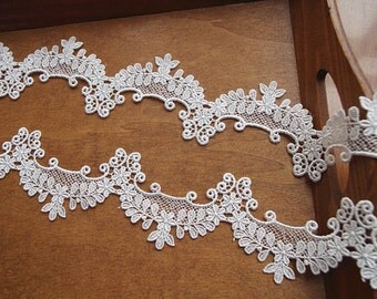 ivory scallop lace trim for bridal veil