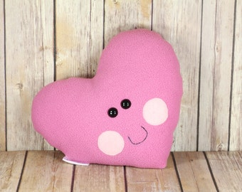 Pink Heart Plush Toy