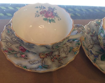 Vintage Copeland Spode Cup and Saucer Set, Patricia, 6 available, Excellent Condition,