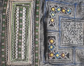 RESERVED FOR AKOSUA     Hmong Vintage Tribal Indigo Batik  Hand Dyed And Embroidered Folk Art