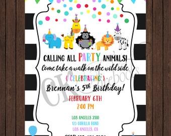 Party Animal Birthday Party Invite