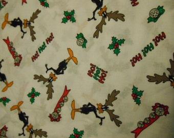 Christmas Daffy Duck Fabric