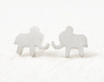 ELEPHANT >> LUCKY little silver animal studs << cuz you can't wear a real elephant << proceeds donated to Humane Society