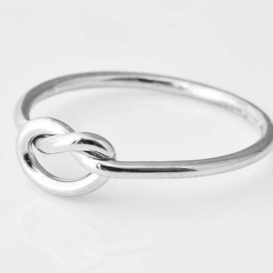 Love Knot Ring Maid of Honor Gift Silver Knot Ring Love