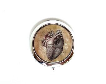 Anatomical Heart Compact - Anatomy Pocket Mirror