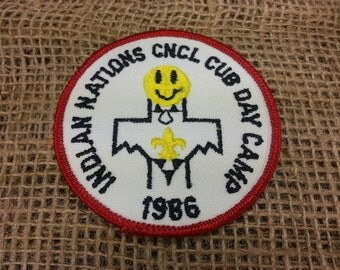 Indian Nations CNCL 1986 Cub Day Camp Boy Scouts of AMERICA Circle Patch Original