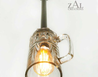 Ceiling Light, Pendant light, Beer mug Lamp with vintage style Edison bulb.