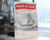 Vintage 1960s Pack-O-Fun Crafts Book Scrap Craft Magazine October 1961