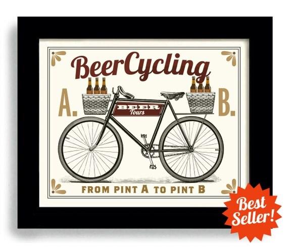 Bier bar schild fahrrad radfahren pub dekoration k che von dexmex - Dekoration fahrrad ...