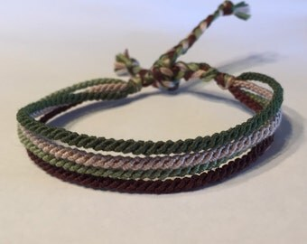 Camoflage - Thin Friendship Bracelet
