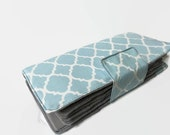 Custom listing for jlee1241 - 38 full wallet in light Blue Quatrefoil