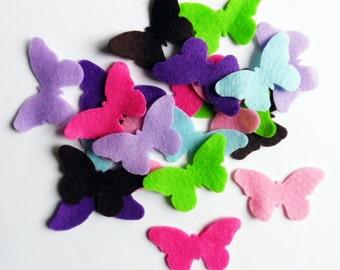 Felt butterflies, felt shapes, felt die cut, Die Cut Felt Shapes, Felt butterfly shapes, felt supplies, scrap supplies