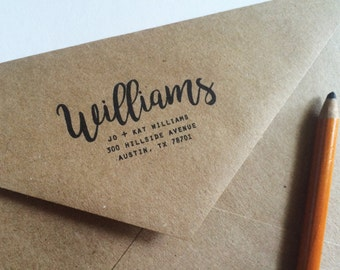 Custom Return Address Kraft Envelopes - Custom Envelopes - Sized for A7 5x7 Cards - Wedding Thank Yous - Wedding Stationery